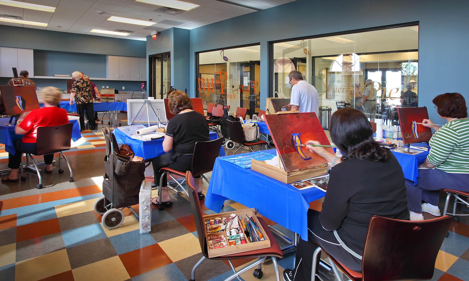 Enjoy painting classes at CantaMia at Estrella in Goodyear, AZ