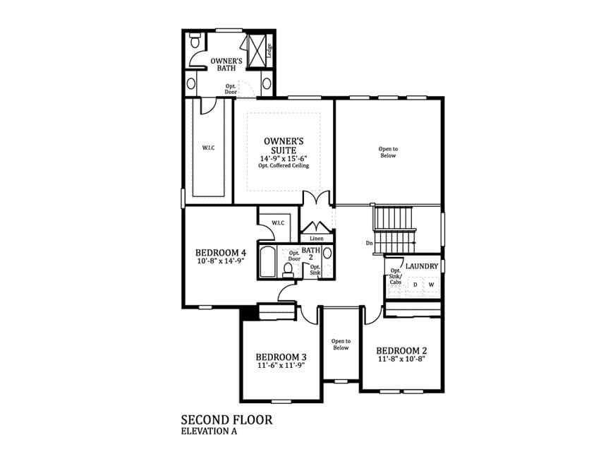 2nd Floor of the Silverthorne Floor Plan | Part of the Timberline City Collection
