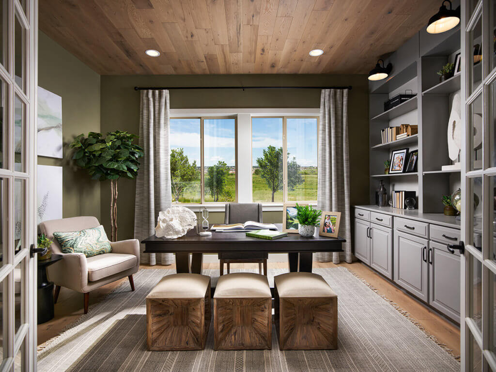 Example of an Aspen floor plan home offered at Timberland